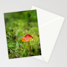 Little Red Mushroom I by Althéa Photo Stationery Cards