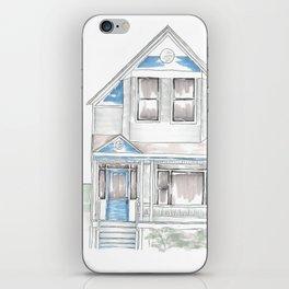 Blue Folk Victorian House iPhone Skin