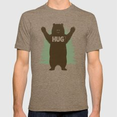 Bear Hug? Mens Fitted Tee LARGE Tri-Coffee