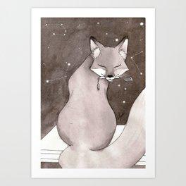 Myobu Kitsune Art Print