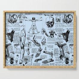 Da Vinci's Anatomy Sketchbook // Light Blue Serving Tray