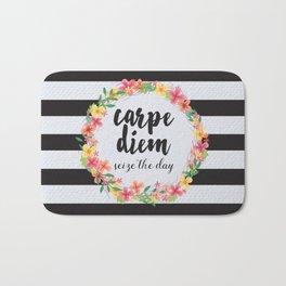 Carpe Diem / Seize The Day Quote Bath Mat