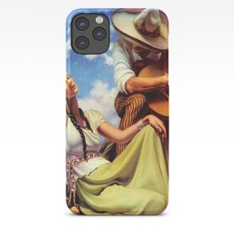 Love and Spanish Guitar under Sonoran Desert Skies portrait painting iPhone Case