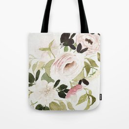 Romantic Loose Rose Bouquet Tote Bag