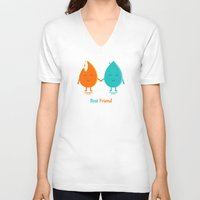 best friend V-neck T-shirts featuring Best Friend by Adil Siddiqui