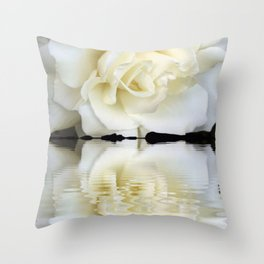 Sunset Rose Throw Pillow