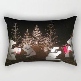 Polar Bear Christmas Rectangular Pillow