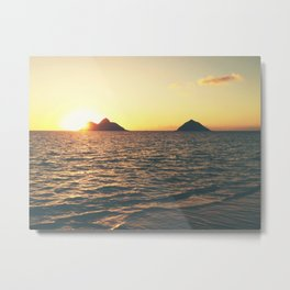 Na Mokulua Sunrise Metal Print