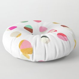painted pebbles 1 Floor Pillow