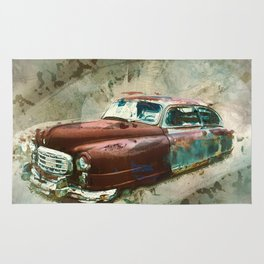 10684 Vintage Car Rug