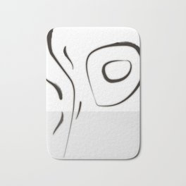 """Tribute to the China Millennium Poem """" Jian Jia"""" (a kind of reeds) No.1(whirl) Bath Mat"""