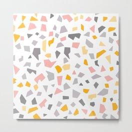 TERRAZZO pastel texture Metal Print