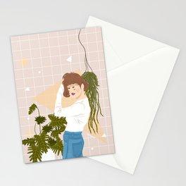 Plants & blue jeans Stationery Cards