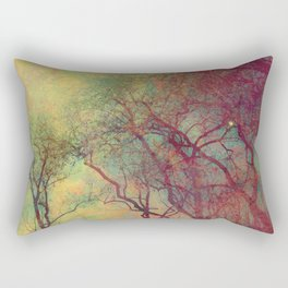Tree Silhouette, Autumn Sunset Rectangular Pillow