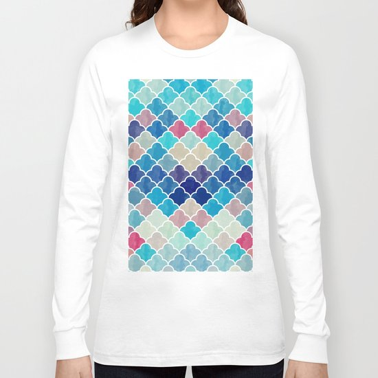 Watercolor Lovely Pattern VVXV Long Sleeve T-shirt