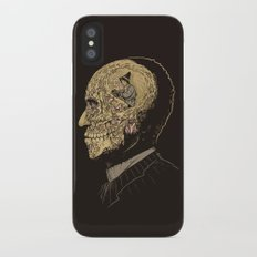 Why zombies want brains iPhone X Slim Case