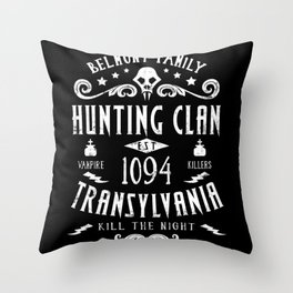 Geeky Gamer Chic Castlevania Inspired Belmont Family Hunting Clan Throw Pillow