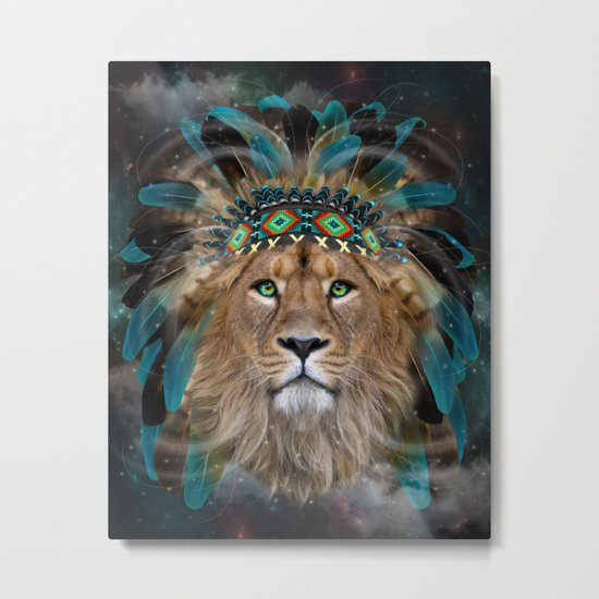 Fight For What You Love (Chief of Dreams: Lion) Tribe Series Metal Print