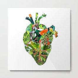 Botanical Heart Metal Print