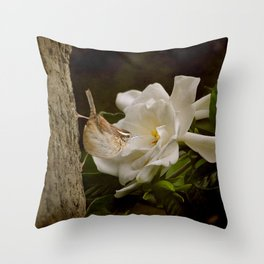 The Scent of the Gardenia Throw Pillow