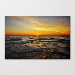 Sunset over Lake Huron Canvas Print