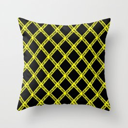 CRIME SCENE CROSSED Throw Pillow