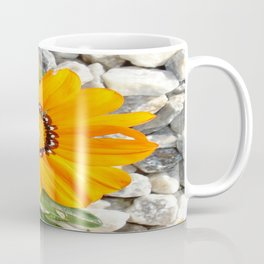 Bright Orange Gazania Flower with Snail Coffee Mug