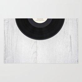 Black vintage vinyl record Rug