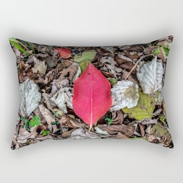 Persimmon tree red leaf Rectangular Pillow