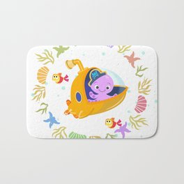 Under the sea with Captain Octo Bath Mat