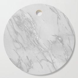 Marble Love Silver Metallic Cutting Board