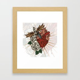 Tormented Heart Framed Art Print