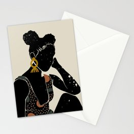 Black Hair No. 6 Stationery Cards
