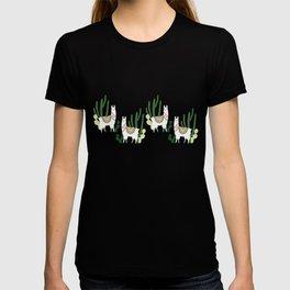 Cute Llama Pattern T-shirt