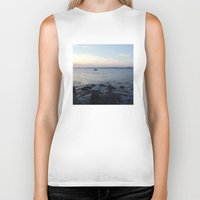 edinburgh Biker Tanks featuring Kayaker Leith Edinburgh by RMK Creative