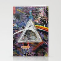 dark side of the moon Stationery Cards featuring Dark Side of The Moon  by likeitartloveit