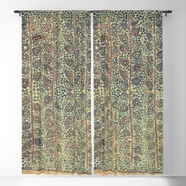 18th Century Indian Tree Textile Digital Art Painting  Blackout Curtain