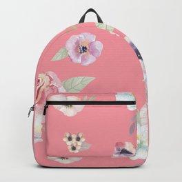 Floral I - Pink Backpack