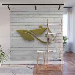 Golden Eco Friendly House Wall Mural