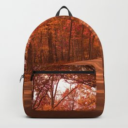 Autumnal Forest Road Backpack