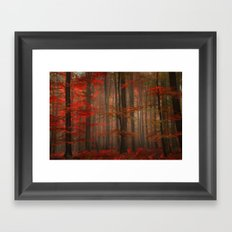 Enchanting Red Framed Art Print