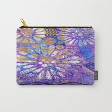 Pattern in Purples and Blues Carry-All Pouch