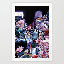 Zombie Cities: Horror at Harajuku Art Print