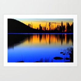 Silver ,Blue,and Gold.. Art Print