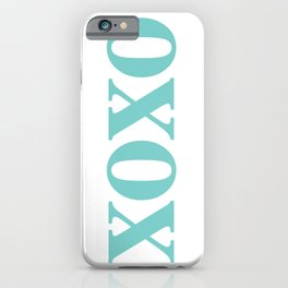 Aqua XOXO iPhone Case