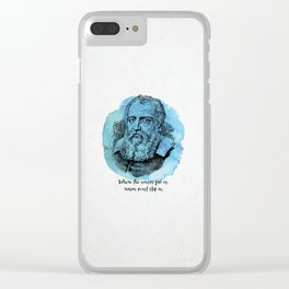 Galileo Galilei - Science Portrait - Reason Must Step In Clear iPhone Case