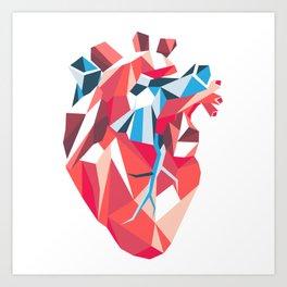 Poligon Heart Art Print