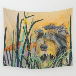 Tall Grass Terrier Wall Tapestry