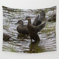 duck Wall Tapestries featuring Duck by Isabelle Savard-Filteau