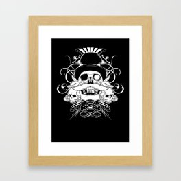 and my moustache shall be my legacy Framed Art Print